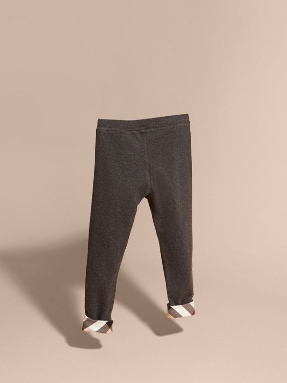 Mid grey melange Stretch Cotton Leggings Mid Grey Melange - cell image 3
