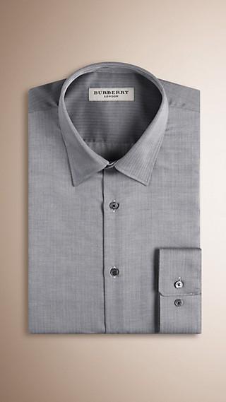 Modern Fit Herringbone Cotton Shirt
