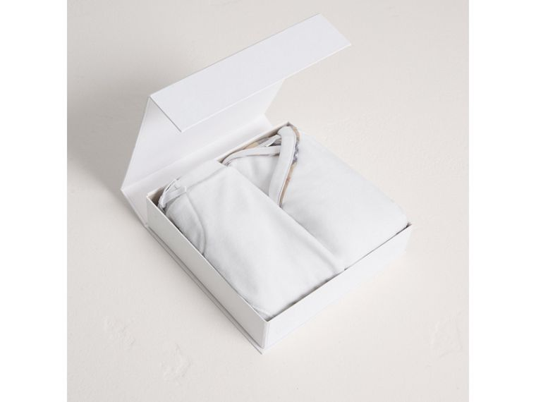 Stretch Jersey Two-piece Baby Gift Set in White | Burberry - cell image 2