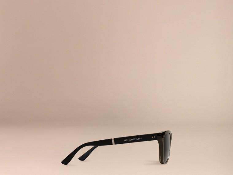 Grey Folding Rectangular Frame Polarised Sunglasses Grey - cell image 4