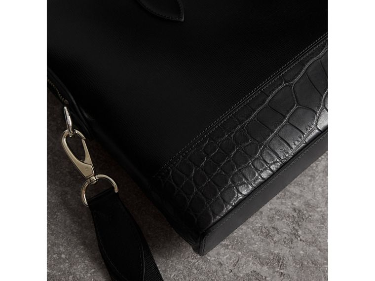 The Slim Barrow in London Leather and Alligator in Black - Men | Burberry United States - cell image 1