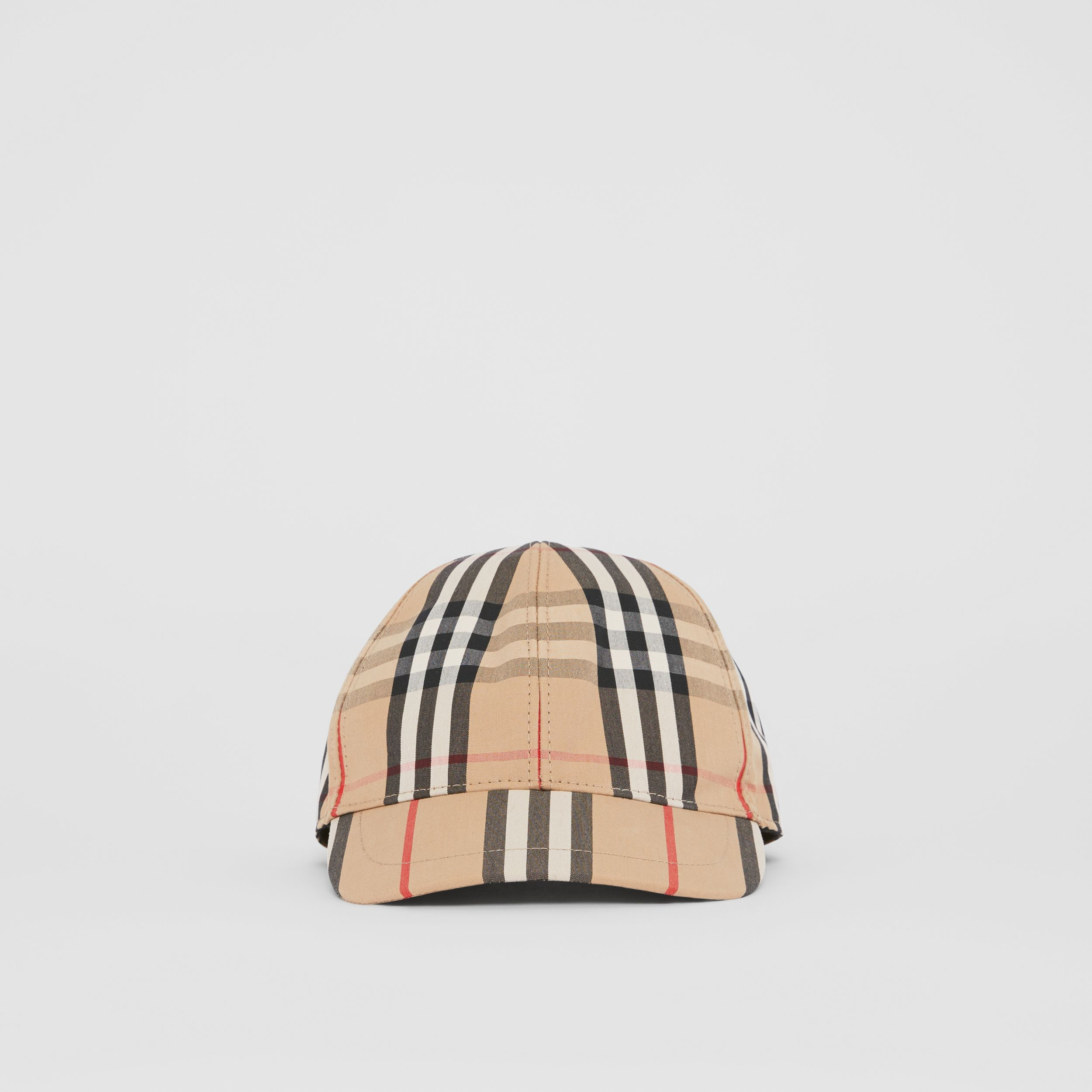 Vintage Check and Icon Stripe Baseball Cap in Archive Beige - Children | Burberry United Kingdom - 1