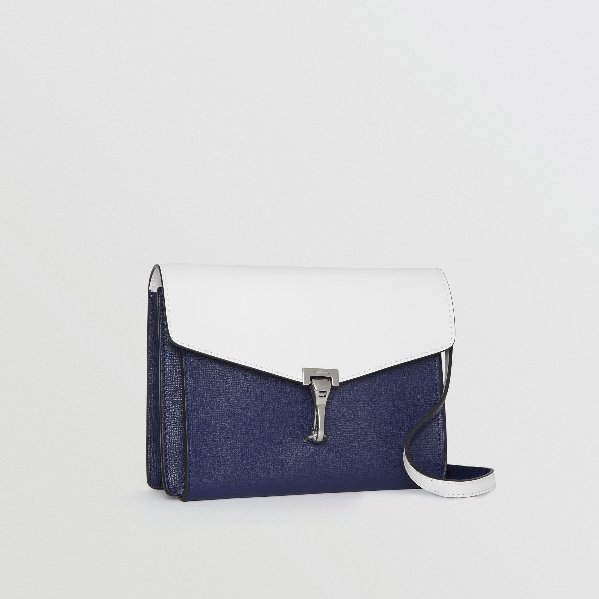 Two-tone Leather Crossbody Bag in Regency Blue/chalk White - Women | Burberry Canada - gallery image 6