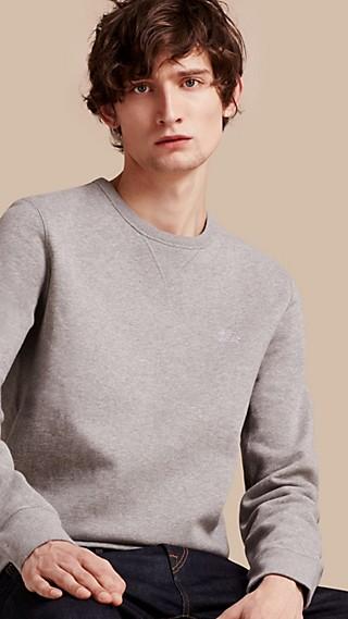 Sweat-shirt en jersey de coton mélangé