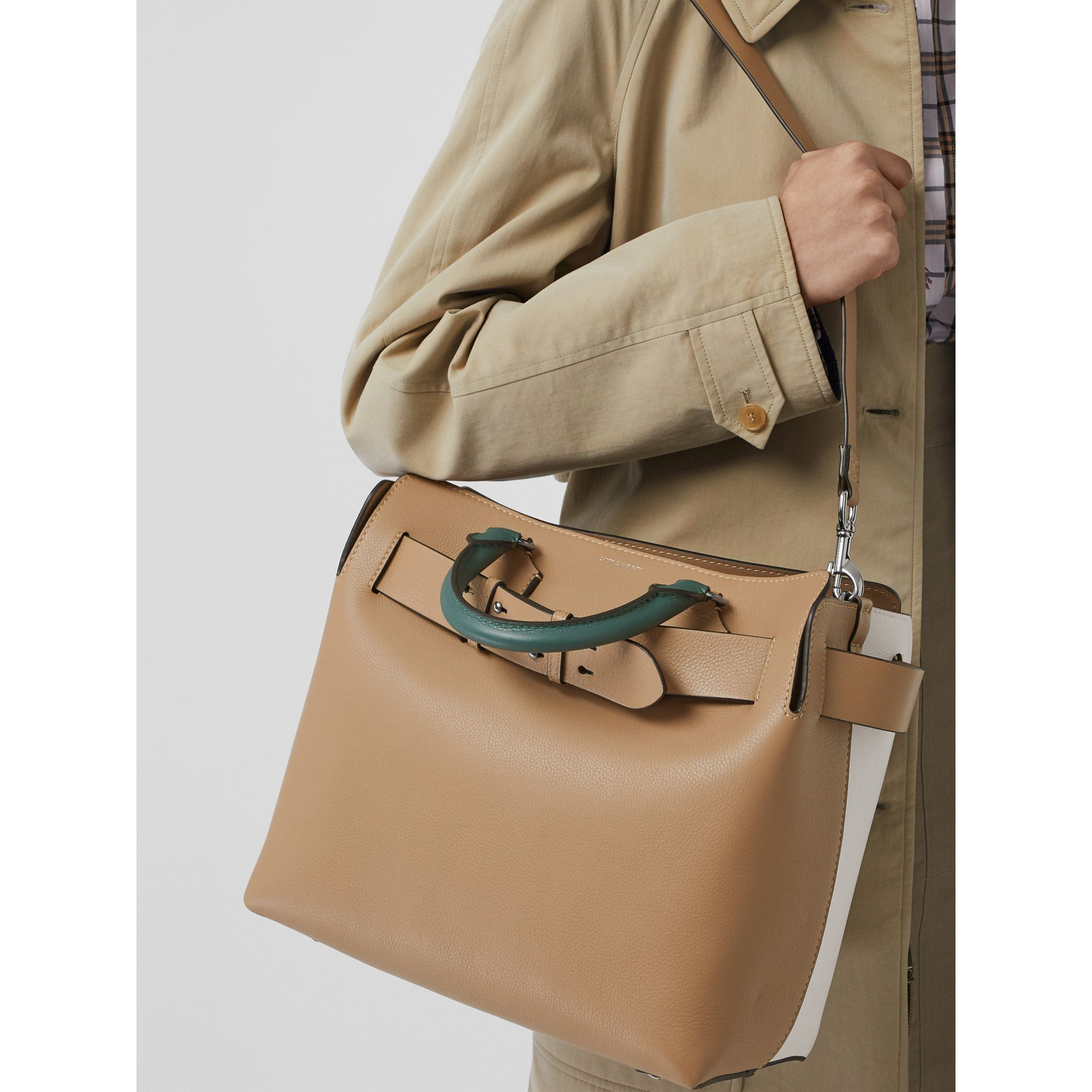 The Medium Tri-tone Leather Belt Bag in Light Camel - Women | Burberry Australia - gallery image 2