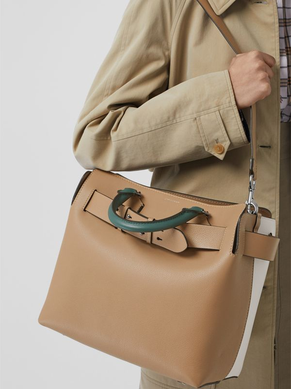 The Medium Tri-tone Leather Belt Bag in Light Camel - Women | Burberry Australia - cell image 2
