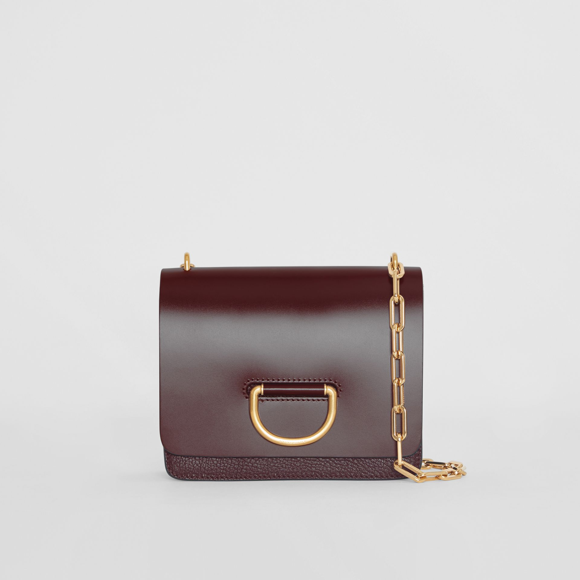 The Small Leather D-ring Bag in Deep Claret - Women | Burberry - gallery image 0