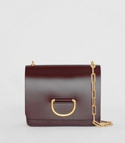9ea2628b985a The Small Leather D-ring Bag in Deep Claret