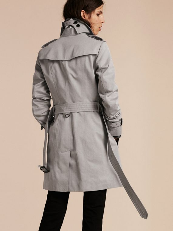 Light grey melange Cotton Gabardine Trench Coat Light Grey Melange - cell image 2