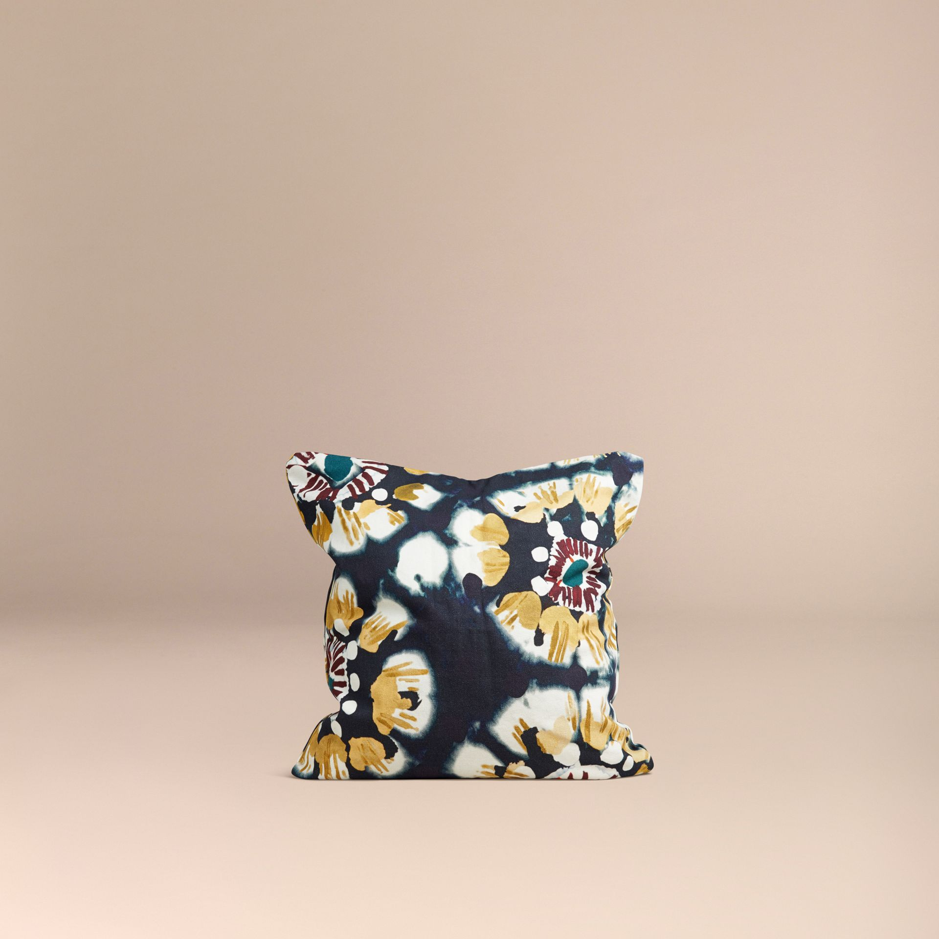 Ink Floral Tie-dye Cotton Cushion Cover Ink - gallery image 3