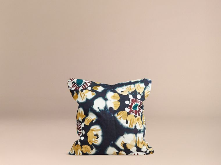 Ink Floral Tie-dye Cotton Cushion Cover Ink - cell image 2