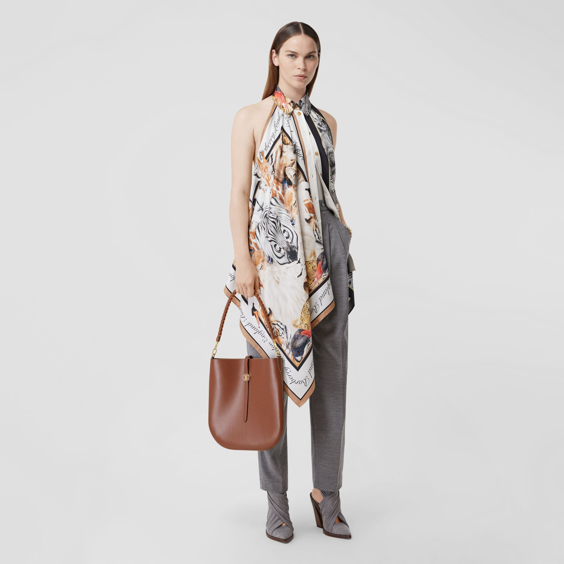 Leather Anne Bag in Tan - Women | Burberry Australia - gallery image 5