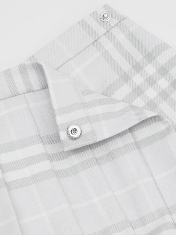 ヴィンテージチェック ウール プリーツラップスカート (ペールグレー) - チルドレンズ   バーバリー - cell image 1