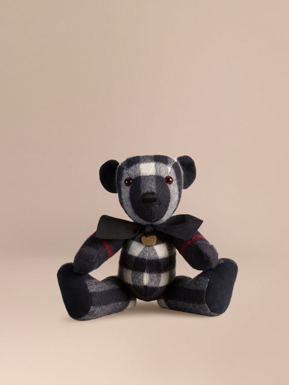 Thomas Bear in Check Cashmere in Navy | Burberry Hong Kong