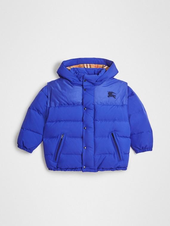 Куртка на пуху со съемным капюшоном (Королевский Синий)