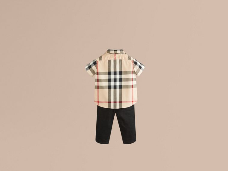 Check Cotton Twill Shirt in New Classic - Boy | Burberry Singapore - cell image 2