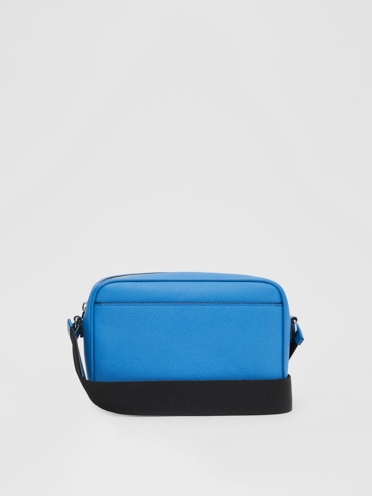 Grainy Leather Crossbody Bag in True Blue