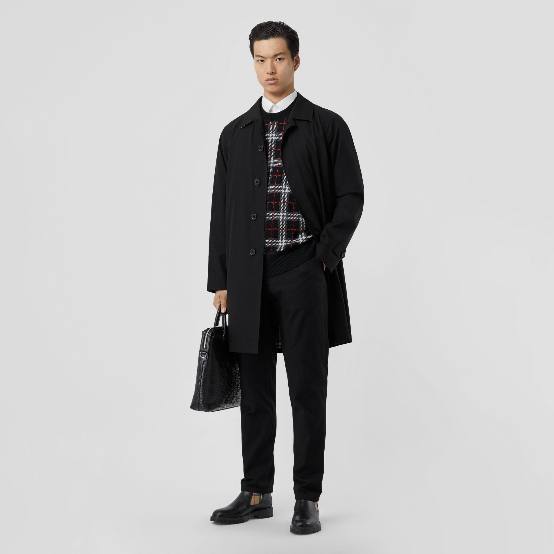 The Camden Car Coat in Black - Men | Burberry United Kingdom - gallery image 0
