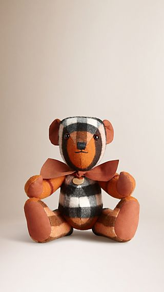 Thomas Bear in Check Cashmere with Bow