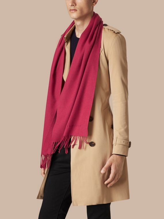 Fuchsia pink The Classic Cashmere Scarf Fuchsia Pink - cell image 3