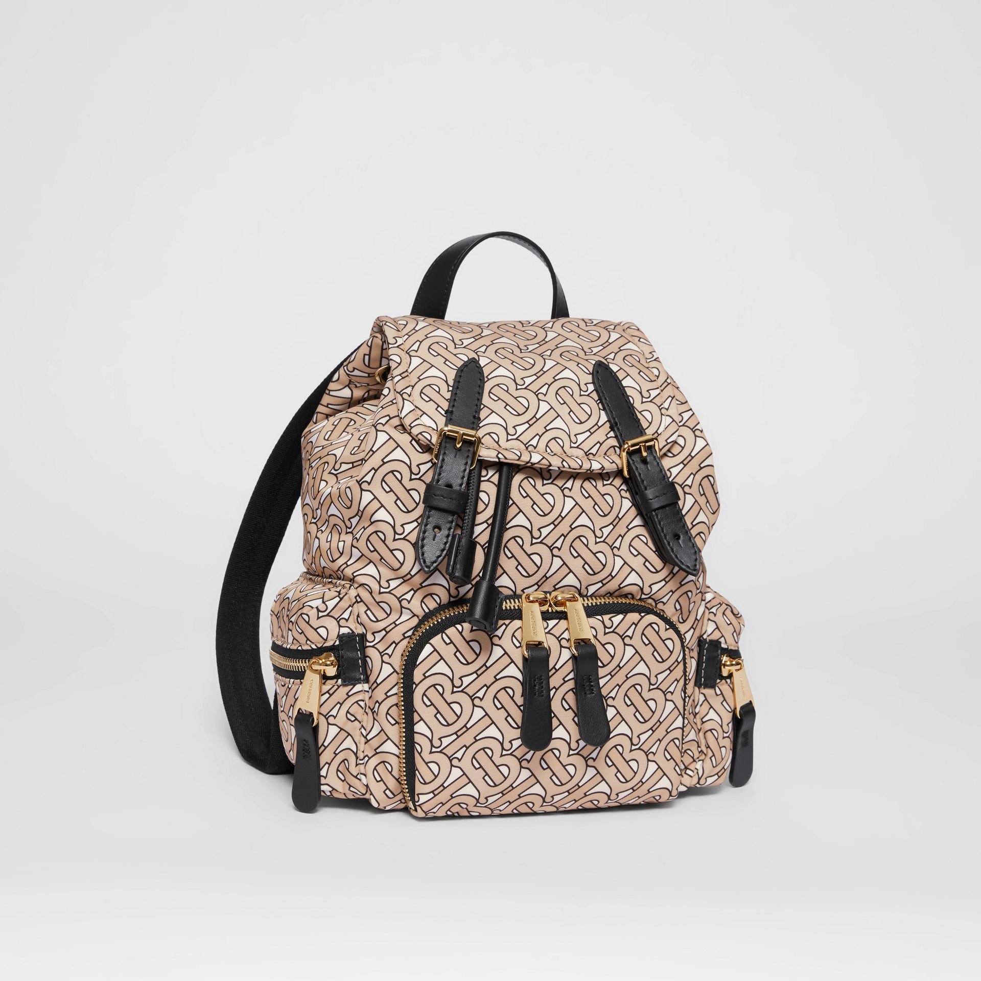 The Small Rucksack in Monogram Print Nylon in Beige - Women | Burberry United Kingdom - gallery image 6