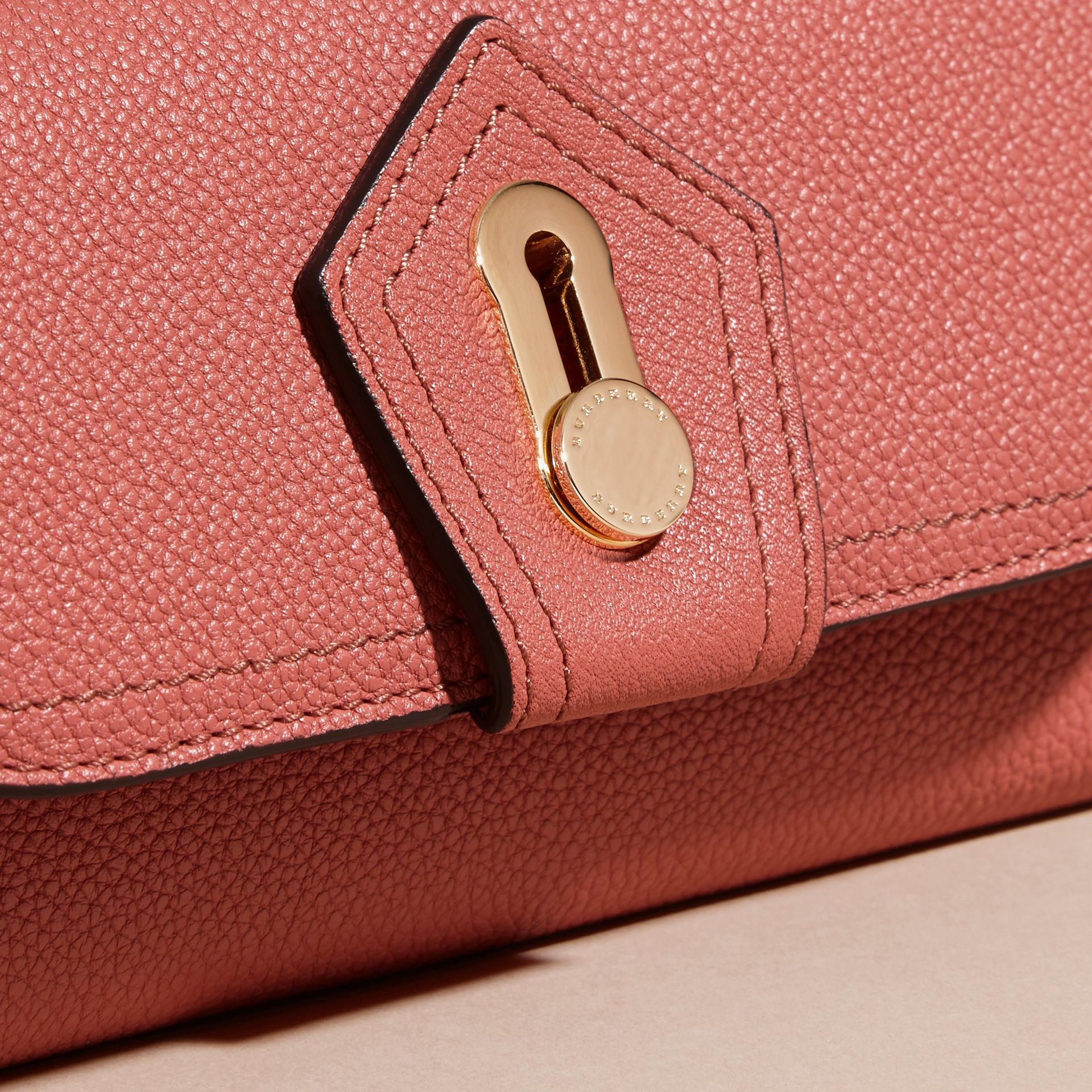 Copper pink Textured Leather Continental Wallet Copper Pink - gallery image 2