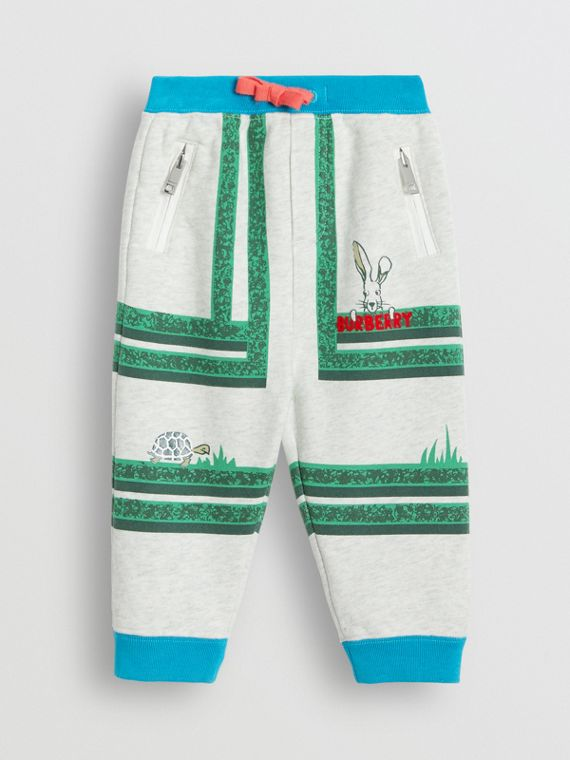 Hedge Maze Print Cotton Trackpants in Multicolour