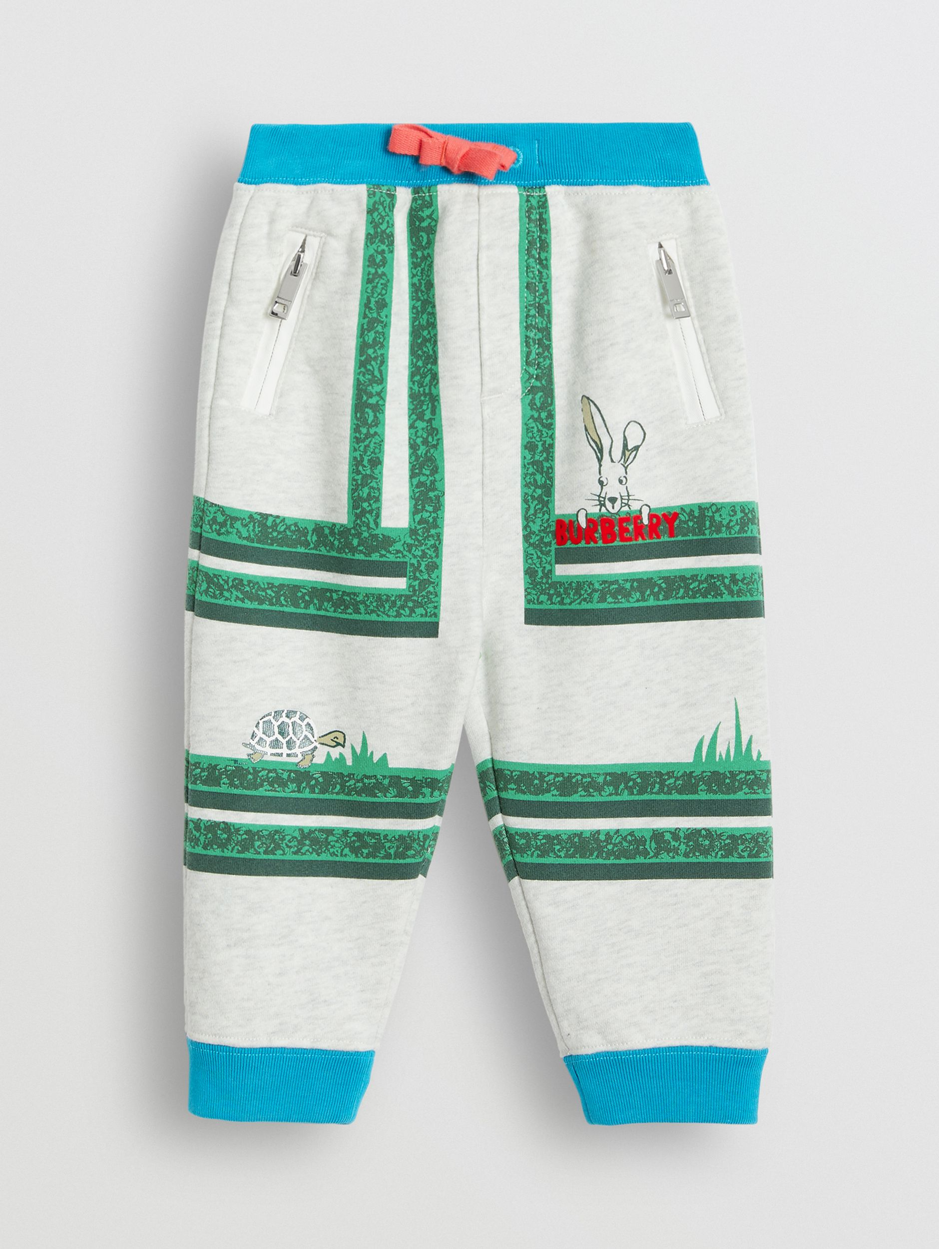 Hedge Maze Print Cotton Trackpants in Multicolour - Children | Burberry - 1