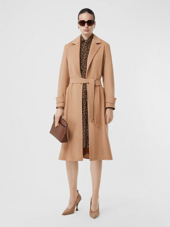 Cashmere Wrap Coat in Modern Beige