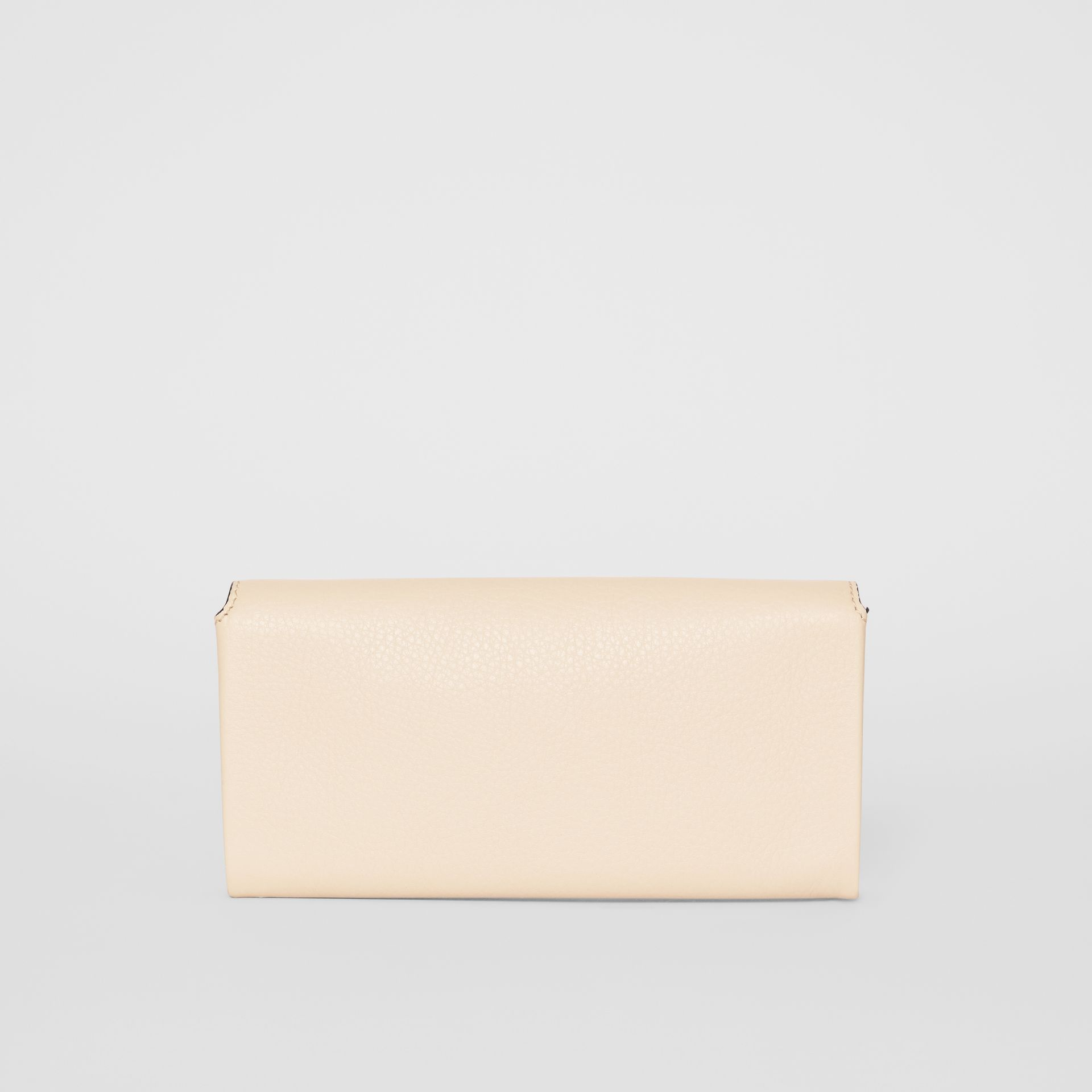 Two-tone Leather Continental Wallet in Limestone - Women | Burberry United States - gallery image 5
