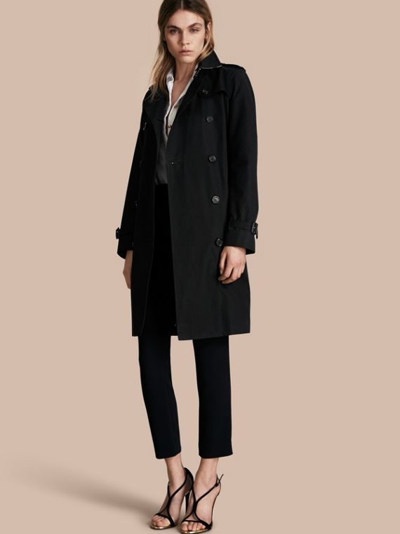 The Kensington - Trench coat Heritage longo Preto