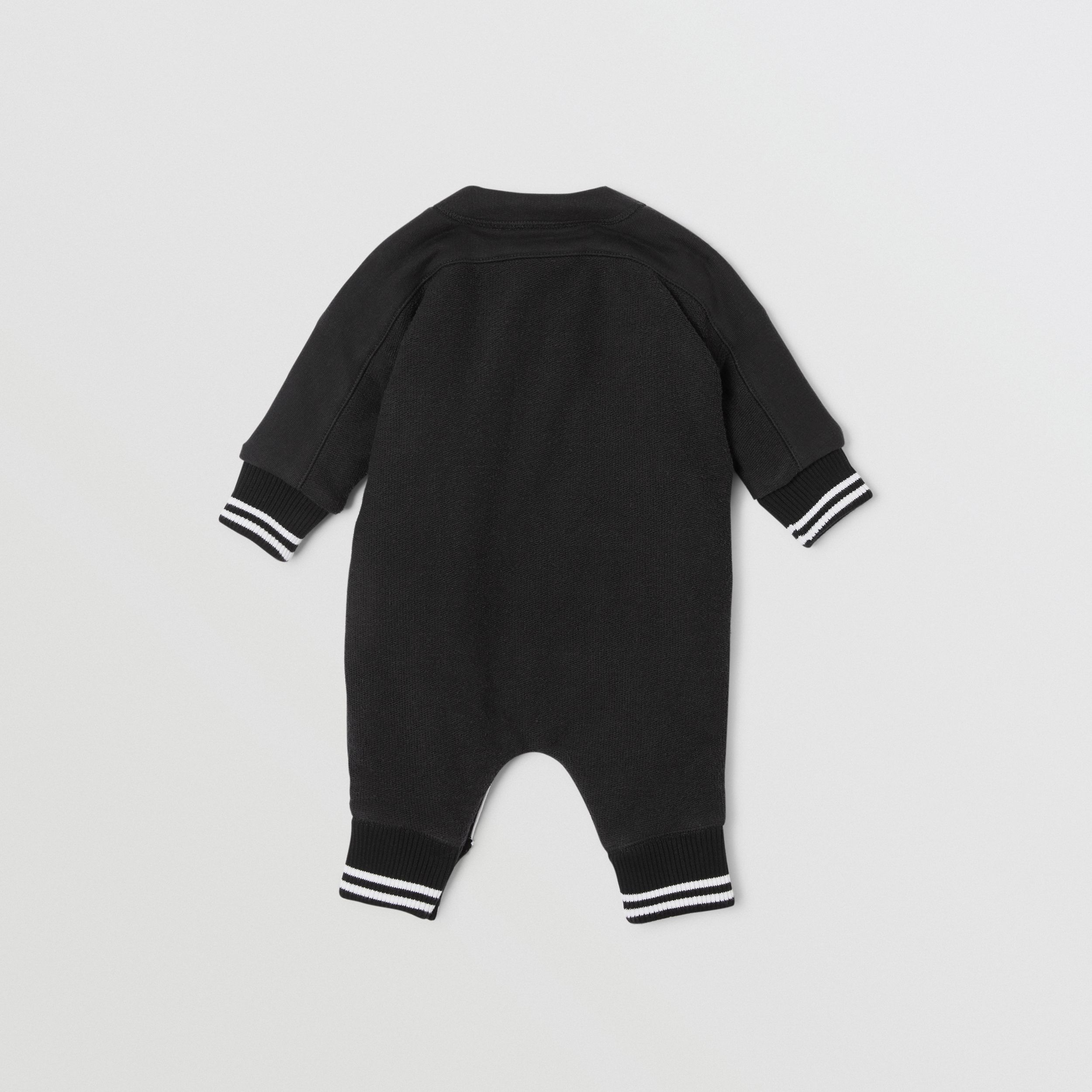 Logo Print Quilted Cotton Jumpsuit in Black - Children | Burberry - 4