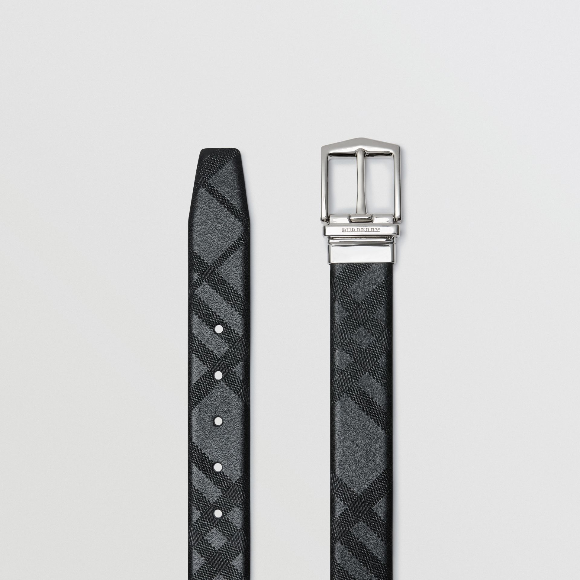 Reversible London Leather Belt in Black - Men | Burberry United States - gallery image 6