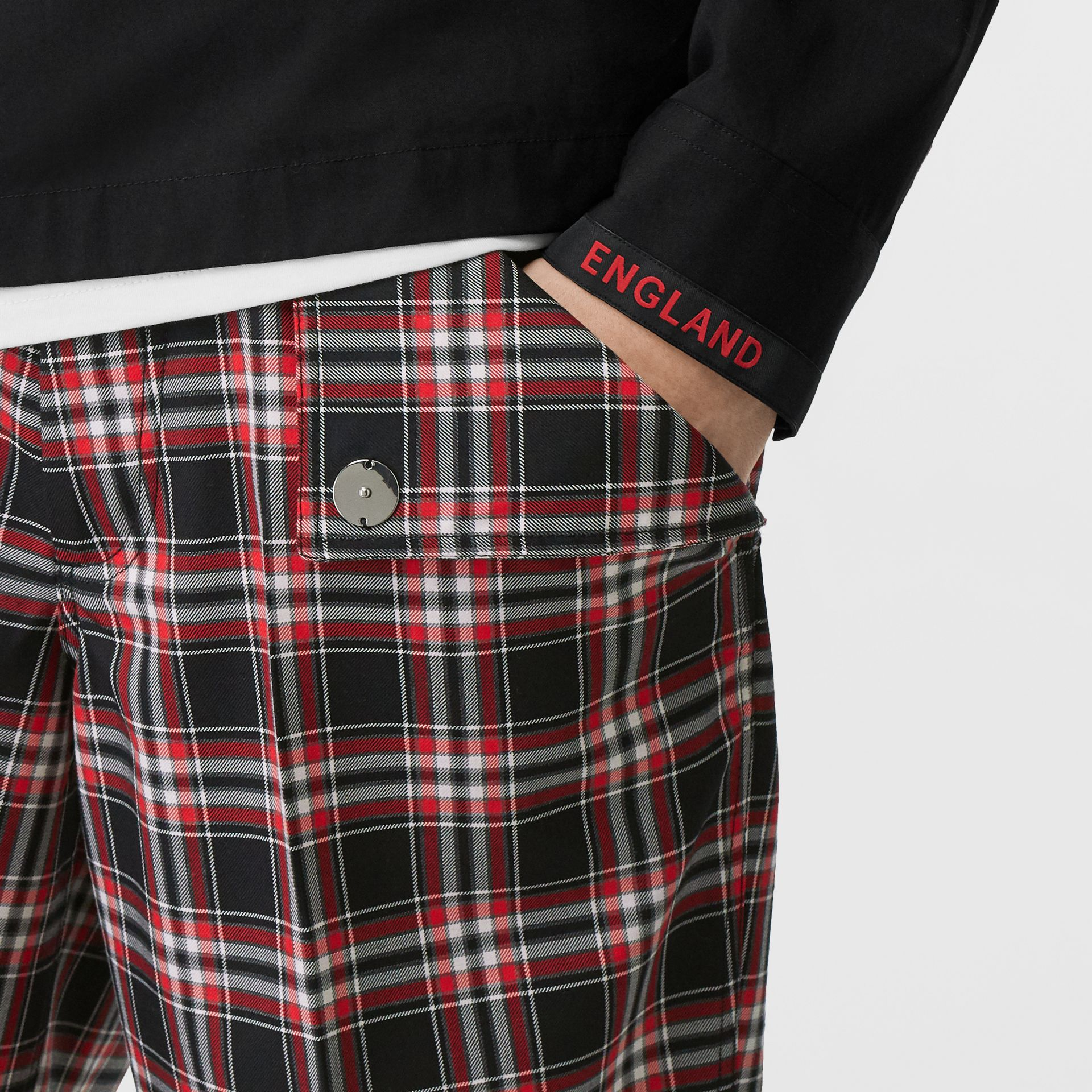 Pocket Detail Check Wool Tailored Shorts in Black - Men | Burberry United States - gallery image 1