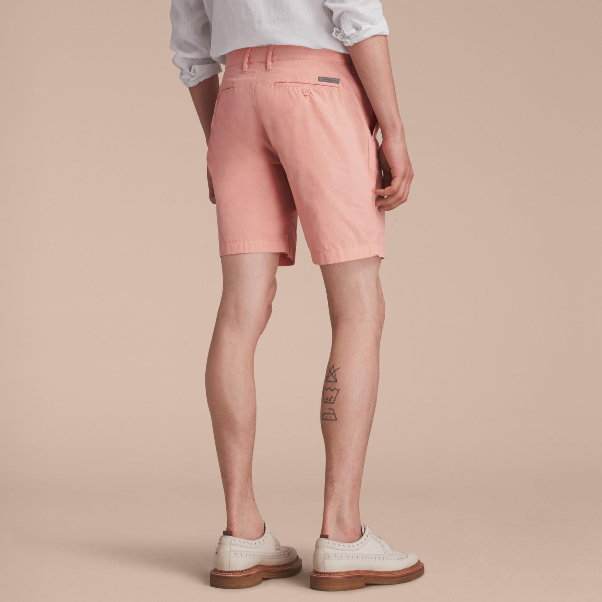 Cotton Poplin Chino Shorts Apricot Pink - gallery image 3