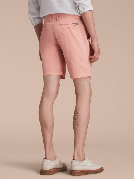 Cotton Poplin Chino Shorts Apricot Pink - cell image 2