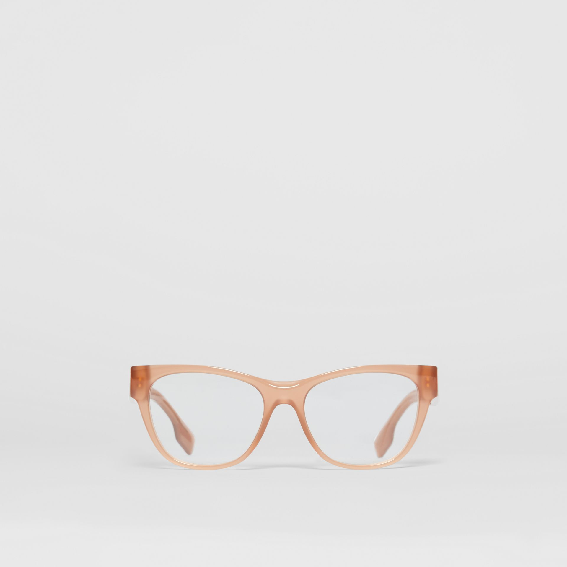 Square Optical Frames in Peach - Women | Burberry United Kingdom - gallery image 0