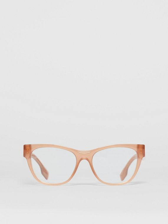 Square Optical Frames in Peach