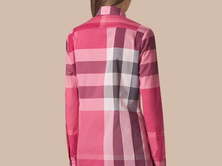Check Cotton Shirt Crimson Pink - cell image 2