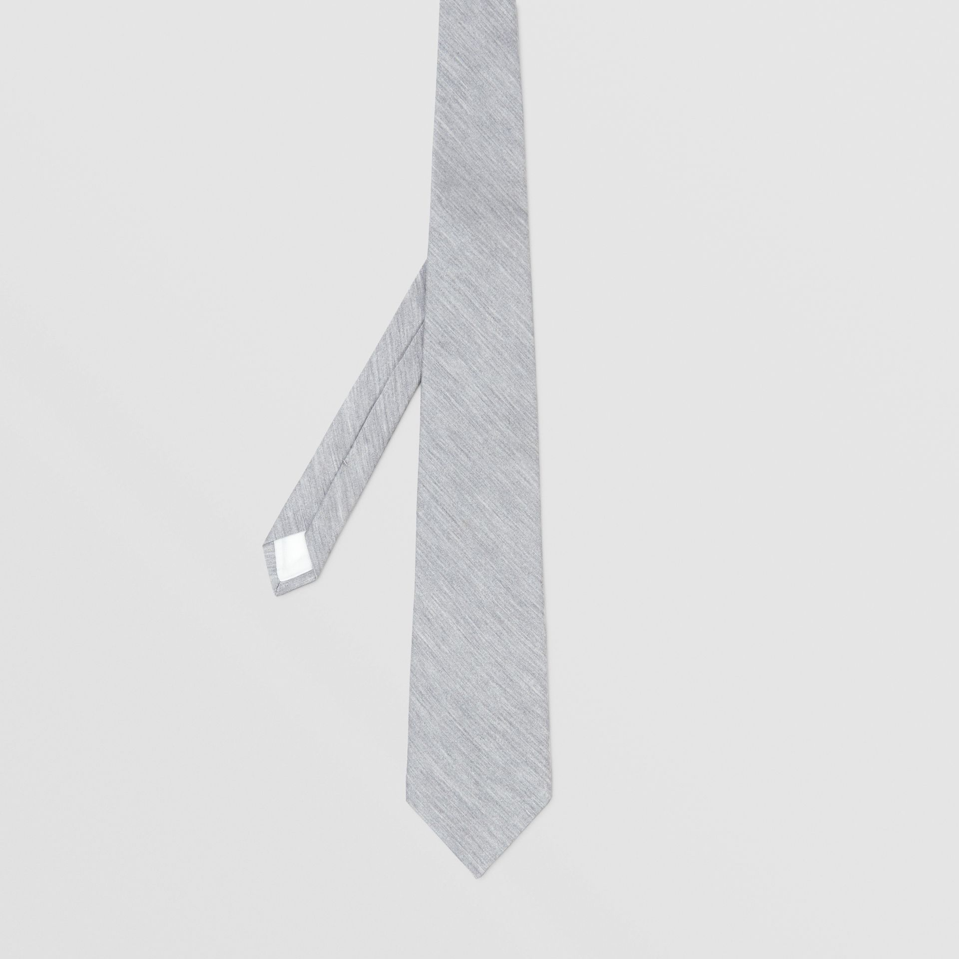 Classic Cut Silk Jersey Tie in Light Pebble Grey | Burberry - gallery image 4