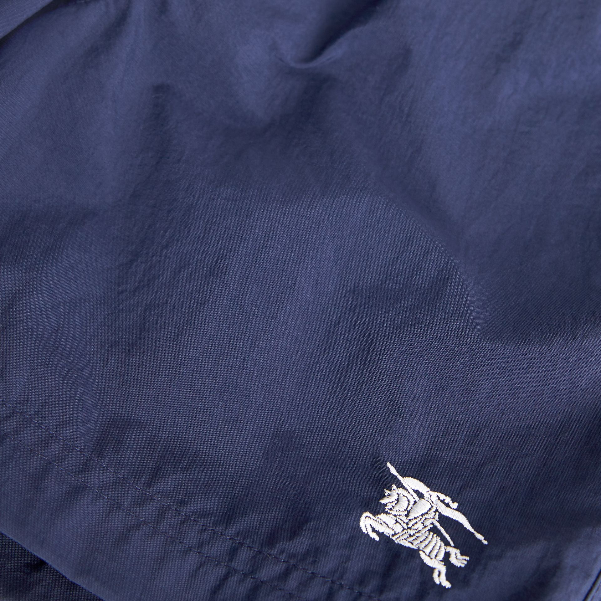 Drawcord Swim Shorts in Indigo | Burberry - gallery image 1