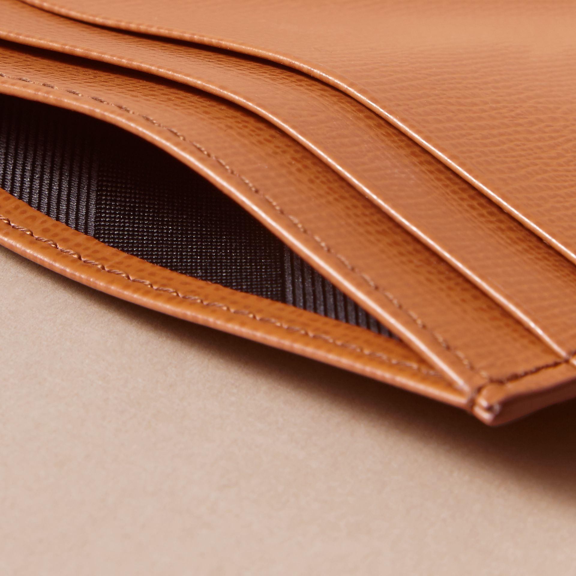 London Leather Card Case in Tan | Burberry Singapore - gallery image 4