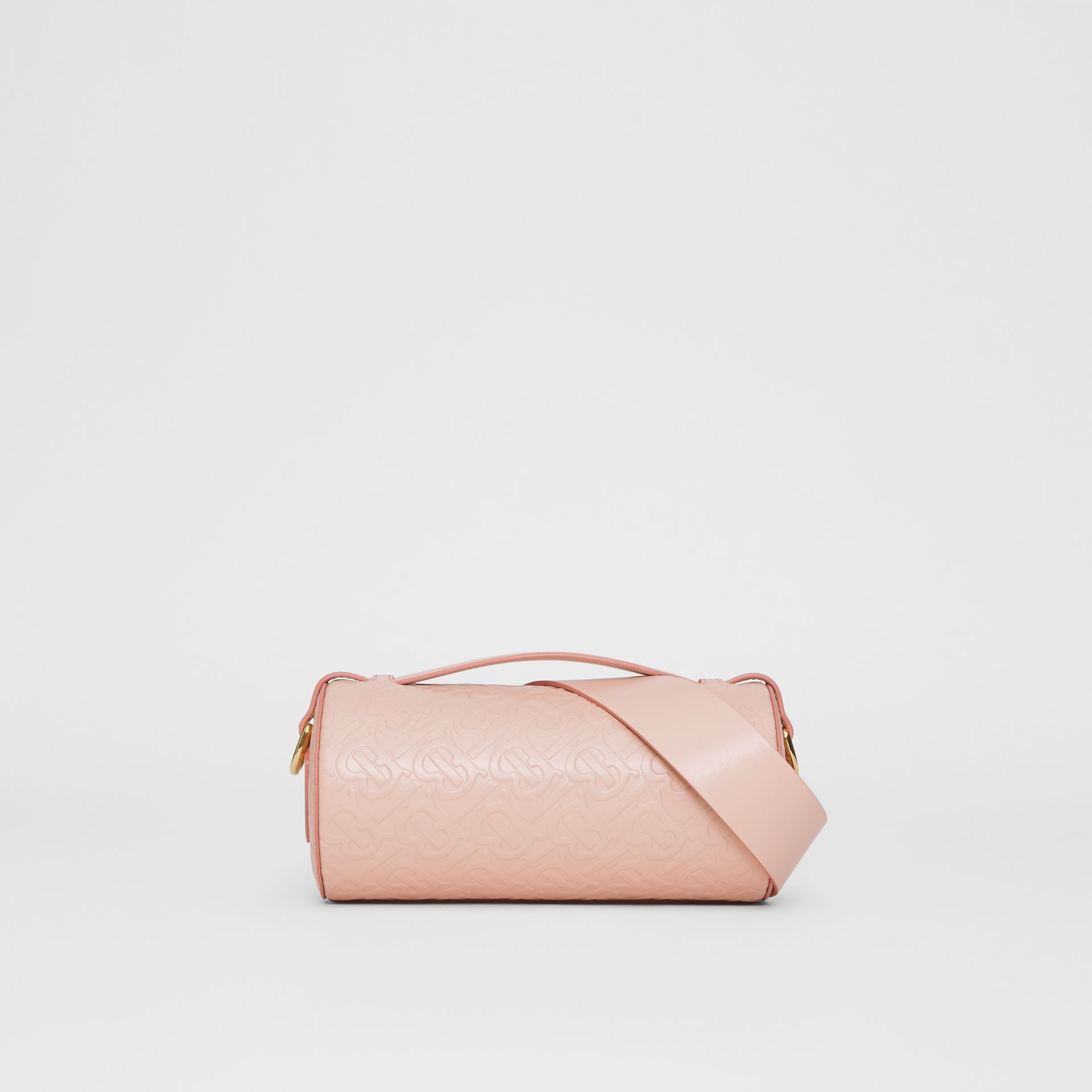 The Monogram Leather Barrel Bag in Rose Beige - Women | Burberry - gallery image 5