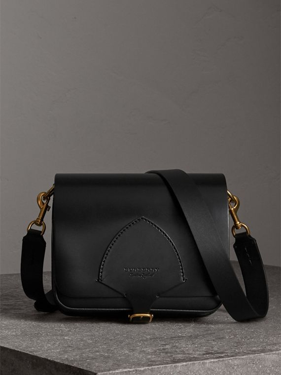 The Square Satchel in Bridle Leather in Black