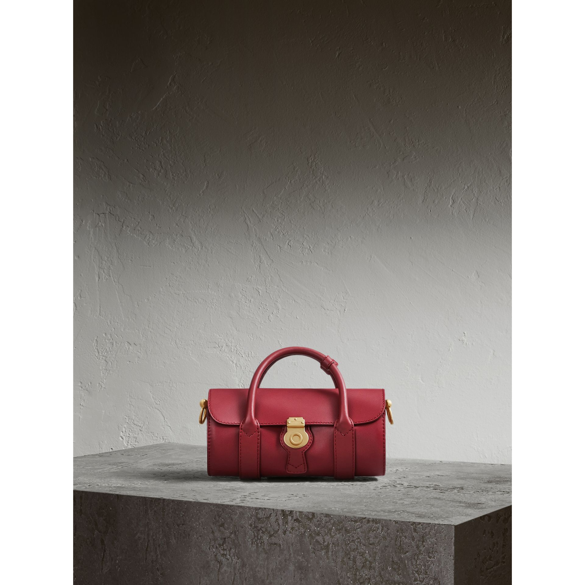 The Small DK88 Barrel Bag in Antique Red - Women | Burberry United States - gallery image 1