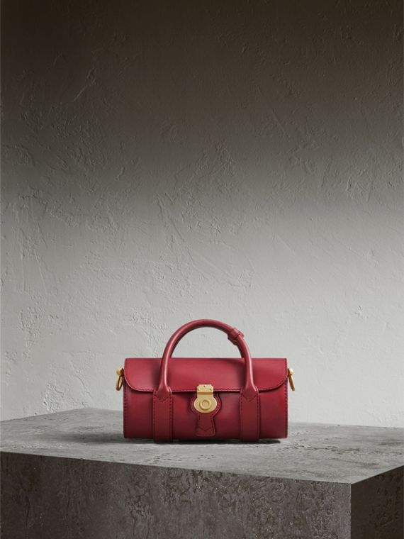 The Small DK88 Barrel Bag in Antique Red - Women | Burberry