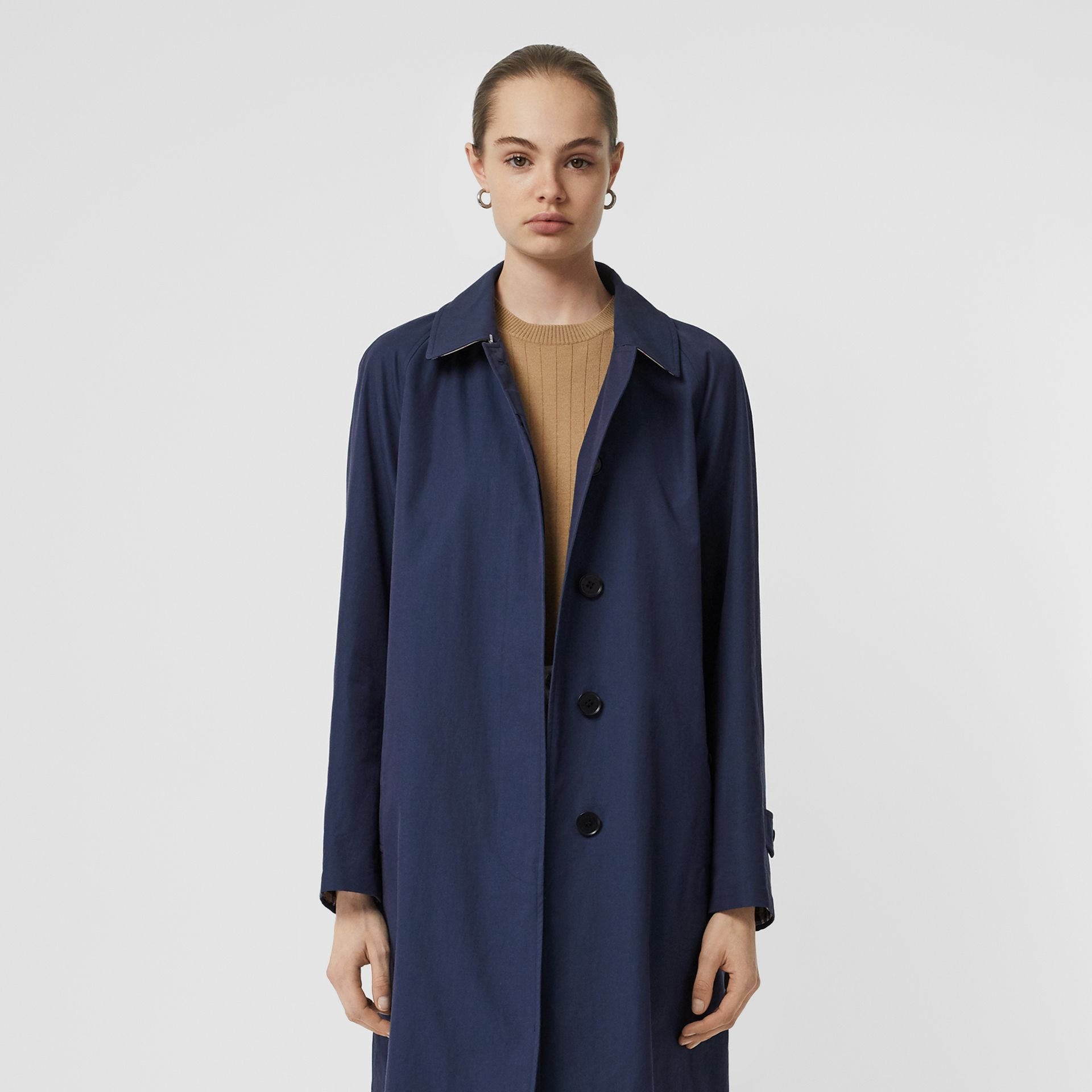 The Camden Car Coat in Dark Sapphire - Women | Burberry - gallery image 8