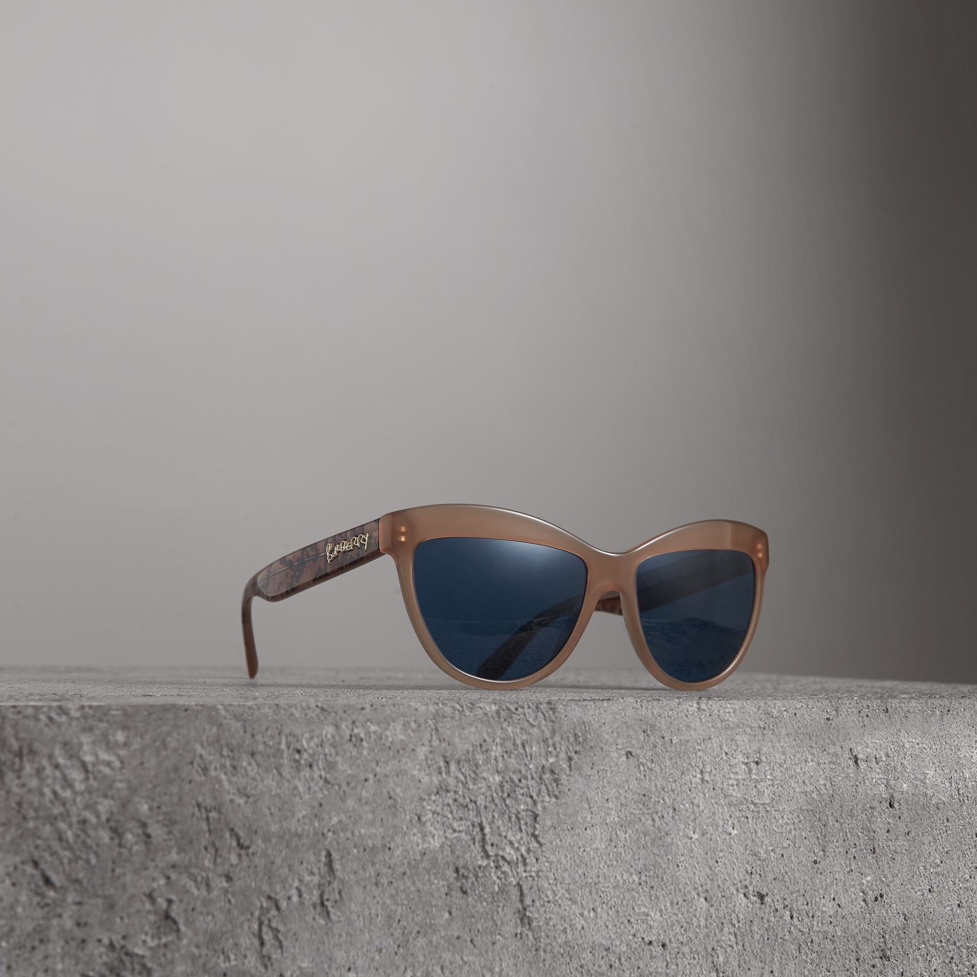 Doodle Cat-eye Frame Sunglasses in Trench - Women | Burberry Singapore - gallery image 0