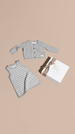 Striped Cashmere Cotton Two-piece Gift Set