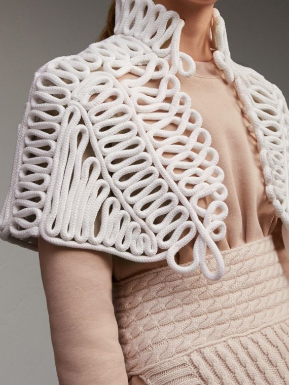 Hand-looped Rope Capelet